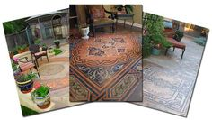 """Stenciled """"concrete carpets"""" from Modello Designs as featured in Artisphere Online article."""
