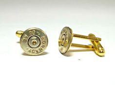 Bullet Jewelry 50 Caliber Brass Bullet Cuff Links by Beads2Bullets