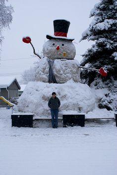 25 FOOT Snowman ~ Anchorage, Alaska