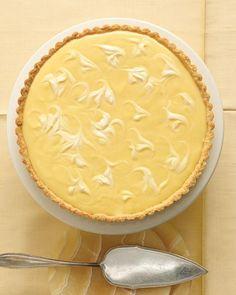Marbled Lemon Tart with Sage-Cornmeal Crust Recipe