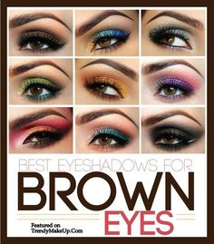 Beautiful Eye Make Up For Brown Eyes For you my brown eyed girl Van Morrison would be proud