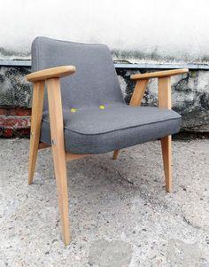 Fotel retro 366 chierowski szare płótno 3 guziki (5665036357) - Allegro.pl - Więcej niż aukcje. Interior Inspiration, Accent Chairs, Dining Chairs, Sweet Home, Mid Century, Retro, Living Room, Interior Design, Furniture