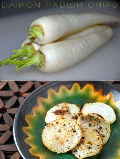 Daikon Chips!? Sounds intriguing...    http://www.floridacoastalcooking.com/2011/01/csa-my-week-6-and-daikon-radish-chips.html