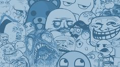 Pedobear longcat trollface staredad forever alone Awesome Face Me Gusta poker face rageface 9GAG Cereal Guy meme-filled mess Stare Dad Fap face Fuck yeah - Wallpaper (#1088161) / Wallbase.cc