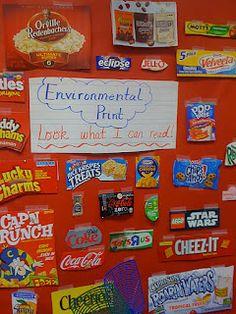 Love For Kindergarten: Fun With Environmental Print