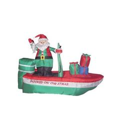 Found it at Wayfair - Christmas Inflatable Santa Claus Fishing Decoration Christmas Light Show, Christmas Art, Christmas Holidays, Christmas Images, Christmas Ideas, Holiday Inflatables, Halloween Inflatables, Wayfair Christmas, Outdoor Santa