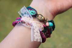 (4) Name: 'Crocheting : Crochet Bracelet Pattern 46