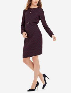 Printed Belted Shift Dress
