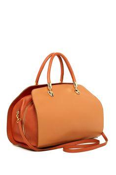 Cognac Leather Bowler Shoulder Bag by Mangotti on @nordstrom_rack