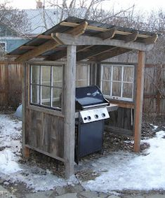 Shed Plans - Montana Wildlife Gardener: Grill shed - Now You Can Build ANY Shed In A Weekend Even If You've Zero Woodworking Experience! Wood Shed Plans, Storage Shed Plans, Diy Storage, Backyard Projects, Outdoor Projects, Pallet Projects, Patio Chico, Bbq Shed, Building A Shed