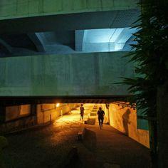 夜散歩のススメ「高輪橋架道橋 トンネル」東京都港区