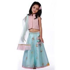 We Have Wide Range of Traditional Lehenga Sharara For Kids, Girls And Teens Available In Store. Find Exciting Offers On All Kinds of Kids Clothes And Accessories. Lehenga Top, Blue Lehenga, Dupion Silk, Sharara, Traditional Dresses, Silk Top, Kids Girls, Pink Dress, High Waisted Skirt