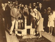 Opening night, August 29, 1930, at Mary Pickford's Wilshire Links with Mary and Douglas Fairbanks on hand.  The Wilshire Links was a miniature golf course once located on the corner of Wilshire Blvd and La Cienega.   Bizarre Los Angeles.