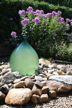 Repurposed carboy/demijohn into a garden bubbler!