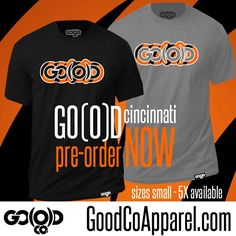 """CINCINNATI GET READY to have a GO(O)D SEASON!!! These are available for pre order NOW!!!!!! Grab your Exclusive GO(O)D Cincinnati tee!! Visit www.GoodCoApparel.com today!! #iKeepGoodCo (in the """"Men's"""" section)"""