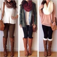 Outfit otoño... Bufandas dan su toque