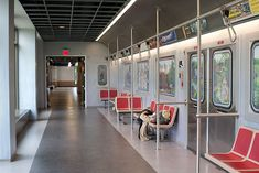 Epic, headquartered in Verona, Wis., has designed an office hallway to look like the New York subway