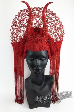 Red Horned Headdress