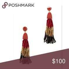 """🍁BRAND NEW 🍁Ombre Beaded Tassel Drop Earrings ✨Brand New✨Ombre Beaded Tassel Drop Earrings """"Pinata Earrings """"  Pair of seed Triple color Beads tassel earrings.  Length 3.75"""".   FREE WITH PURCHASE: Cute organza drawstring pouch for storage or for gifting.    🛍Bundle & Save!! 10% 3+ items  💞No Trades Jewelry Earrings"""