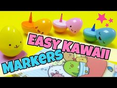 Extremely EASY DIY(kawaii egg markers) - YouTube