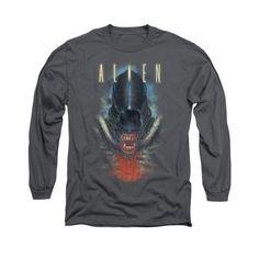 Alien Movie HUGGER Licensed Adult Long Sleeve T-Shirt S-3XL