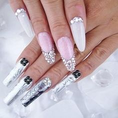 Nail art from the NAILS Magazine Nail Art Gallery, acrylic, Fresh Meadows, Manicure And Pedicure, Pedicures, Stiletto Nail Art, Beauty Spa, Colored Highlights, Nail Art Galleries, Nails Magazine, Long Nails