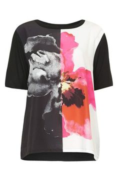 Edgy graphic tee--love the pink side!
