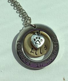 Forever In My Heart Personalized dog Charm Pendant.  Sister, mom, wife, girlfriend, birthday, Christmas, Anniversary, new pet, memory of pet by Lexiandfriends on Etsy