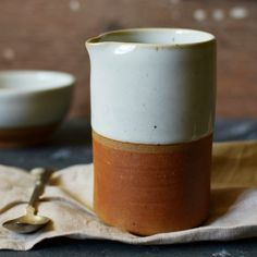 Dipped terracotta jug