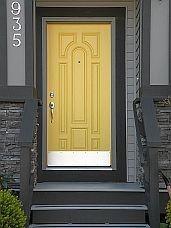 Golden yello door