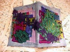 altered fabric books