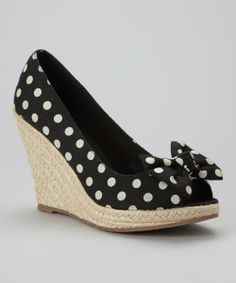 Fun B&W Polka Dot Wedges