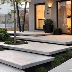 Landscape Design Plans, Landscape Materials, Landscape Architecture Design, House Landscape, Famous Architecture, Landscape Stairs, Stairs Architecture, Modern Landscaping, Backyard Landscaping