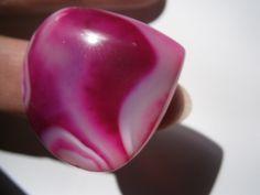 Ring,Achat,pink,neon,grau von kunstpause auf DaWanda.com
