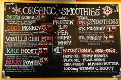 Seasons Organic Juice and Smoothie Bar in Fort Langley is fantastic