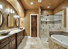 Spa Like Relaxing Master Bathrooms | Doral Model Spa-Like Bathrooms - Golden Bear Reserve at Summit Rock ...