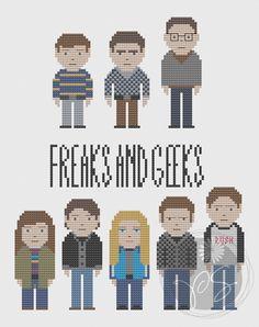 Freaks and Geeks cross-stitch