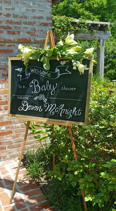 Baby Shower Welcome, Chalkboard