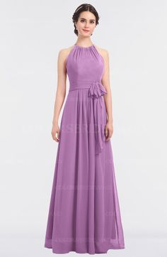 11f9a642bcd Orchid Classic Halter Sleeveless Zip up Floor Length Flower Bridesmaid  Dresses (Style D92896) Mismatched