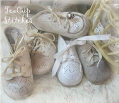 vintage baby shoes | Vintage Baby Shoes ~ ~ ~ for White Wednesday