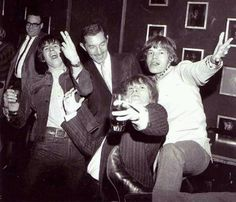 Good times... Keith Richards, Brian Jones, and Mick Jagger