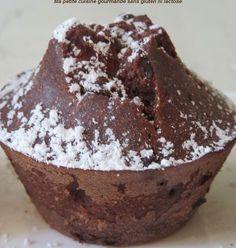 Moelleux au chocolat et à la poire sans gluten, sans lactose