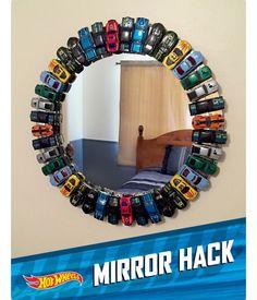 DIY Hot wheels mirror for a boys room! DIY Hot wheels mirror for a boys room! Boys Room Decor, Kids Decor, Decor Ideas, Bedroom Decor, Bed Ideas, Diy Boy Room, Car Bedroom Ideas For Boys, Toddler Boy Room Ideas, Boys Room Ideas