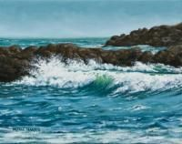 Oregon Coast painted by artell harris