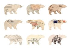 Love this idea; cut out bears with different paper products - could then frame then.....
