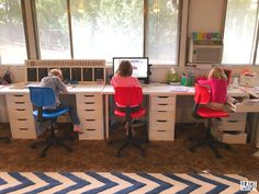 Homeschool Room tour and organization Student Desks, Kids Study, Study Rooms, Home Learning, Room Setup, Room Tour, Kid Spaces, Organizer, Design