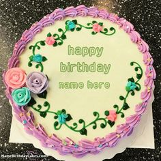 Special Happy Birthday Cake Images With Name [analyn] Birthday Card With Name, Birthday Wishes With Name, Happy Birthday Wishes Images, Happy Birthday Name, Happy Birthday Quotes, Beautiful Birthday Cakes, Cool Birthday Cakes, Birthday Cake Girls, Cake Decorating Designs
