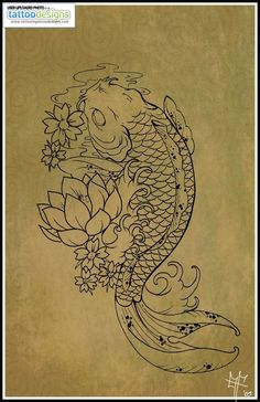 Higher Resolution Koi Carp Tattoo By Dragodelbuio Designs Interfaces Design Tattoodonkey Com: