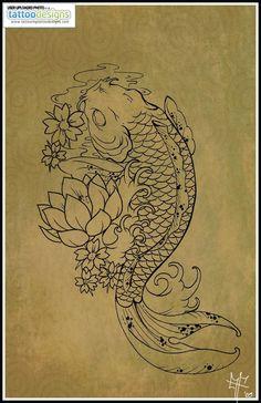 Higher Resolution Koi Carp Tattoo By Dragodelbuio Designs Interfaces Design Tattoodonkey Com: