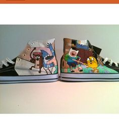 Regular Show An Adventure Time Epic Shoes